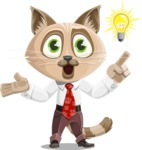 Business Cat Cartoon Vector Character AKA Tom Catson - Idea 2