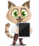 Business Cat Cartoon Vector Character AKA Tom Catson - iPad 1