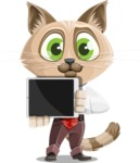 Business Cat Cartoon Vector Character AKA Tom Catson - iPad 2