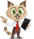 Business Cat Cartoon Vector Character AKA Tom Catson - iPad 3