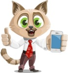 Business Cat Cartoon Vector Character AKA Tom Catson - iPhone