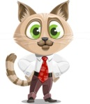 Business Cat Cartoon Vector Character AKA Tom Catson - Normal