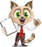 Business Cat Cartoon Vector Character AKA Tom Catson - Notepad 1