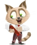 Business Cat Cartoon Vector Character AKA Tom Catson - Notepad 3