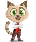 Business Cat Cartoon Vector Character AKA Tom Catson - Patient