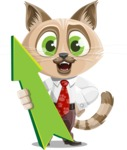 Business Cat Cartoon Vector Character AKA Tom Catson - Pointer 1