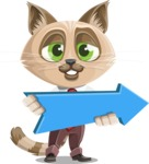 Business Cat Cartoon Vector Character AKA Tom Catson - Pointer 2