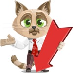 Business Cat Cartoon Vector Character AKA Tom Catson - Pointer 3