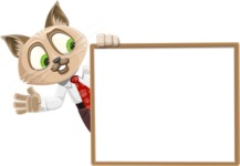 Business Cat Cartoon Vector Character AKA Tom Catson - Presentation 5
