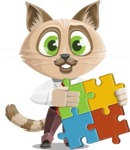 Business Cat Cartoon Vector Character AKA Tom Catson - Puzzle