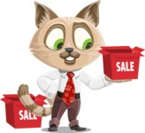 Business Cat Cartoon Vector Character AKA Tom Catson - Sale