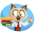 Business Cat Cartoon Vector Character AKA Tom Catson - Shape 1