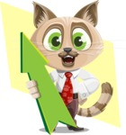 Business Cat Cartoon Vector Character AKA Tom Catson - Shape 10