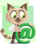 Business Cat Cartoon Vector Character AKA Tom Catson - Shape 11