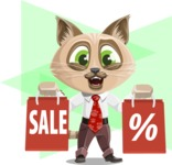 Business Cat Cartoon Vector Character AKA Tom Catson - Shape 12