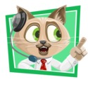 Business Cat Cartoon Vector Character AKA Tom Catson - Shape 2