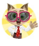 Business Cat Cartoon Vector Character AKA Tom Catson - Shape 3