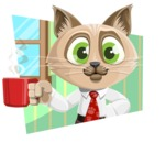 Business Cat Cartoon Vector Character AKA Tom Catson - Shape 4