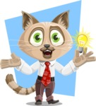Business Cat Cartoon Vector Character AKA Tom Catson - Shape 5