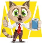 Business Cat Cartoon Vector Character AKA Tom Catson - Shape 6