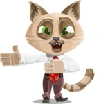 Business Cat Cartoon Vector Character AKA Tom Catson - Show 2