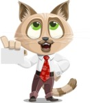 Business Cat Cartoon Vector Character AKA Tom Catson - Sign 1
