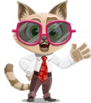Business Cat Cartoon Vector Character AKA Tom Catson - Sunglasses