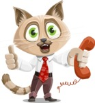 Business Cat Cartoon Vector Character AKA Tom Catson - Support