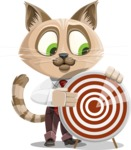 Business Cat Cartoon Vector Character AKA Tom Catson - Target