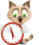 Business Cat Cartoon Vector Character AKA Tom Catson - Time is Yours