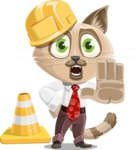 Business Cat Cartoon Vector Character AKA Tom Catson - Under Construction 1