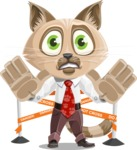 Business Cat Cartoon Vector Character AKA Tom Catson - Under Construction 2