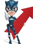 Fit Girl with Superhero Costume Cartoon Vector Character AKA Sara Purrfect - Arrow