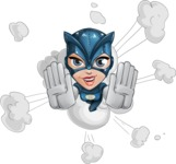 Fit Girl with Superhero Costume Cartoon Vector Character AKA Sara Purrfect - Shape 2