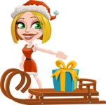 Clausette Jingle - Sled With Gift