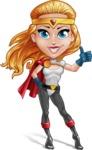 Female Superhero Cartoon Vector Character AKA Starshine Megagirl - Normal