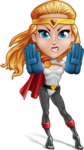 Female Superhero Cartoon Vector Character AKA Starshine Megagirl - Stop 1