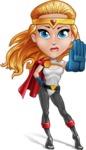 Female Superhero Cartoon Vector Character AKA Starshine Megagirl - Stop 2