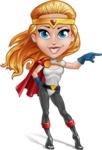 Female Superhero Cartoon Vector Character AKA Starshine Megagirl - Point 1