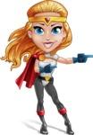 Female Superhero Cartoon Vector Character AKA Starshine Megagirl - Point 2