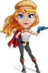 Female Superhero Cartoon Vector Character AKA Starshine Megagirl - Show 1