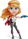 Female Superhero Cartoon Vector Character AKA Starshine Megagirl - Show 2