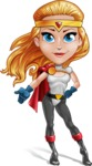 Female Superhero Cartoon Vector Character AKA Starshine Megagirl - Show 3