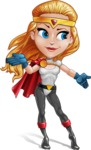 Female Superhero Cartoon Vector Character AKA Starshine Megagirl - Show 4