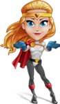 Female Superhero Cartoon Vector Character AKA Starshine Megagirl - Show 6