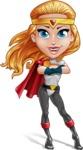 Female Superhero Cartoon Vector Character AKA Starshine Megagirl - Confident 2