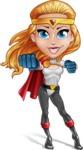 Female Superhero Cartoon Vector Character AKA Starshine Megagirl - Punch