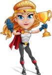 Female Superhero Cartoon Vector Character AKA Starshine Megagirl - Winner