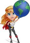 Female Superhero Cartoon Vector Character AKA Starshine Megagirl - Earth