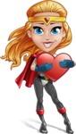 Female Superhero Cartoon Vector Character AKA Starshine Megagirl - Love